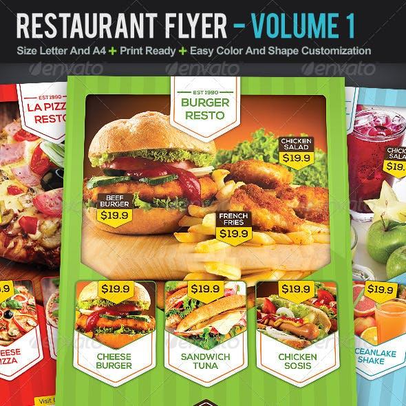 Restaurant Flyer | Volume 1