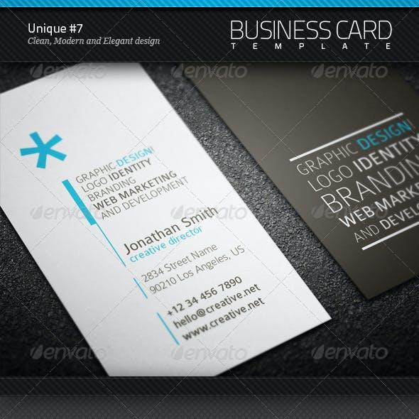 Unique Business Card #7