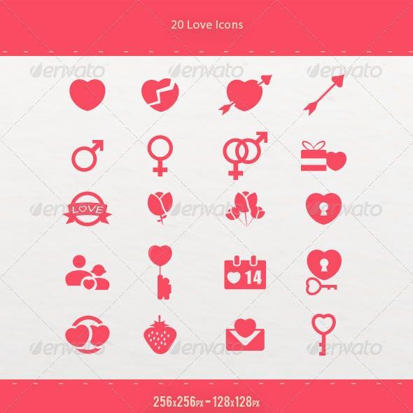 20 Love Icons