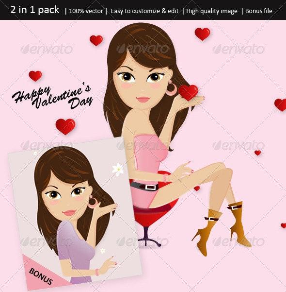 Cutie Girl - Valentines Seasons/Holidays