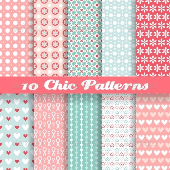 Chic Different Seamless Patterns
