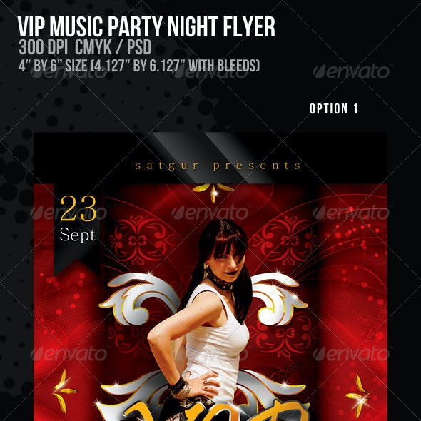VIP Music Party Night Flyer