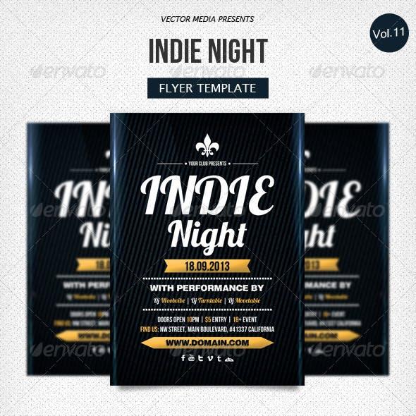 Indie Night - Flyer [Vol.11]