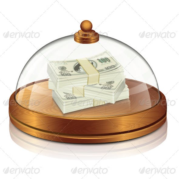 Restaurant Transparent Lid with Money