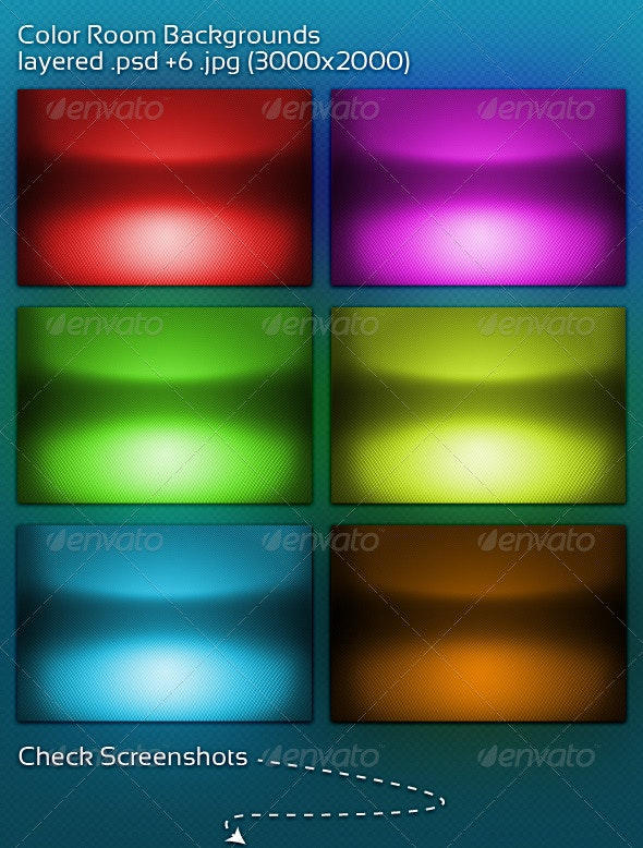Color Room Backgrounds - 3D Backgrounds