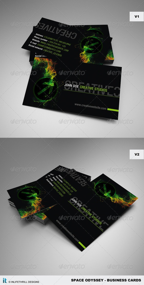 Space Odyssey - Business Cards - Grunge Business Cards