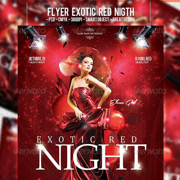 Flyer Exotic Red Night