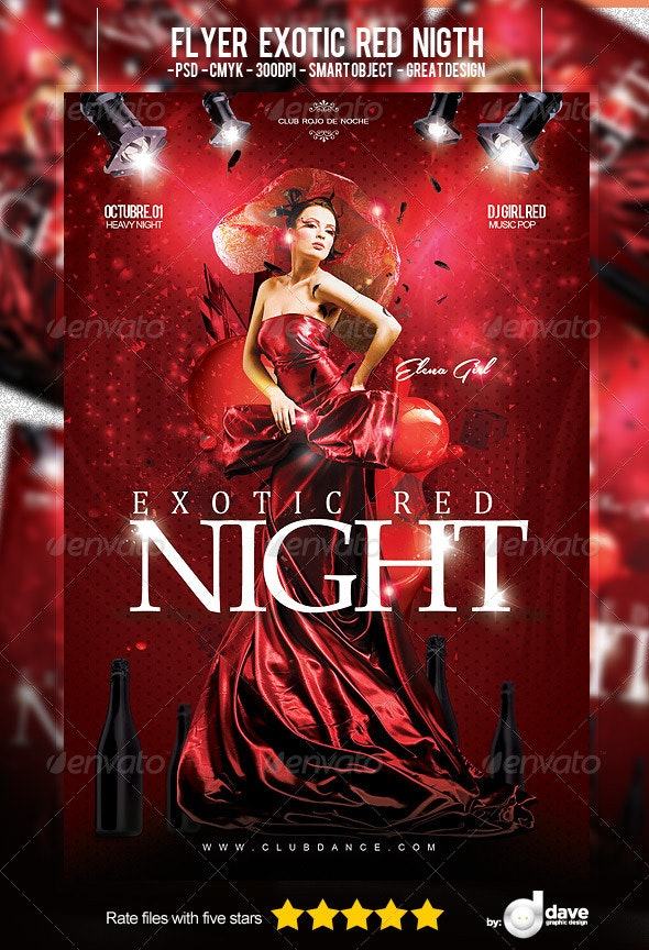 Flyer Exotic Red Night - Clubs & Parties Events
