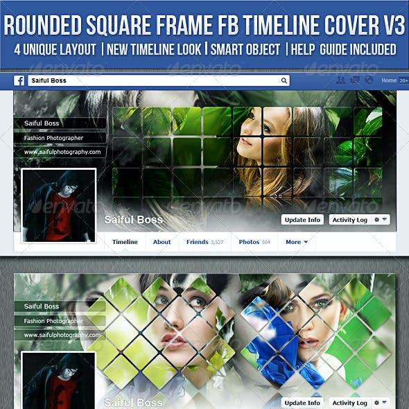 Rounded Square Frame Facebook Timeline Cover V3