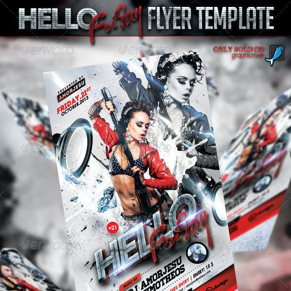 Hello Friday Flyer Template