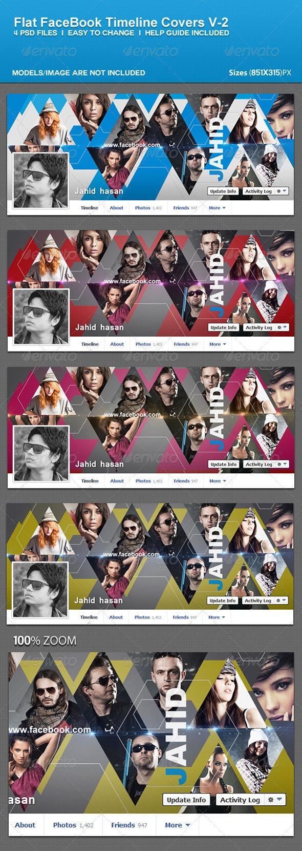 Flat Facebook Timeline Covers V-2 - Facebook Timeline Covers Social Media