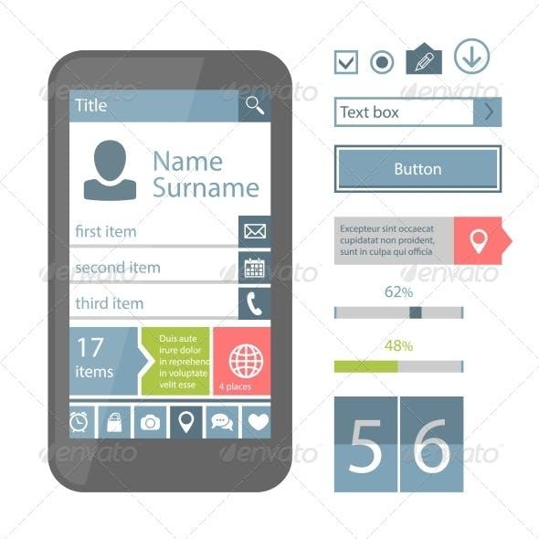 Mobile Flat UI Elements