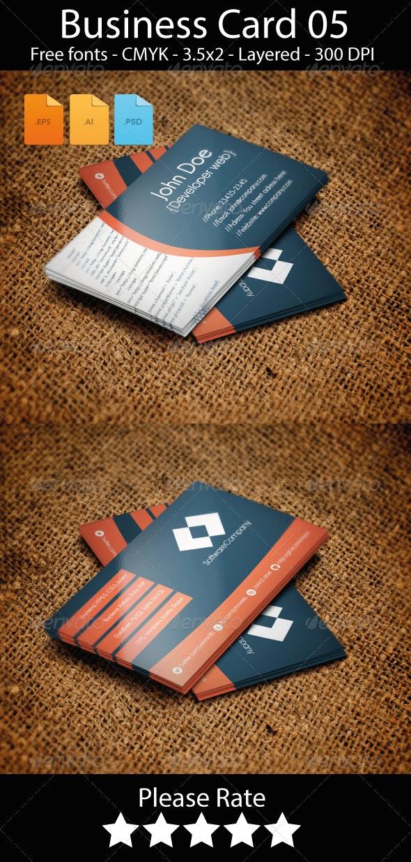 Developer Web Business Card Design - Industry Specific Business Cards