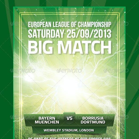 Football Europe League Promo Flyer