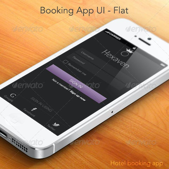 Booking App Full UI - Hexaven