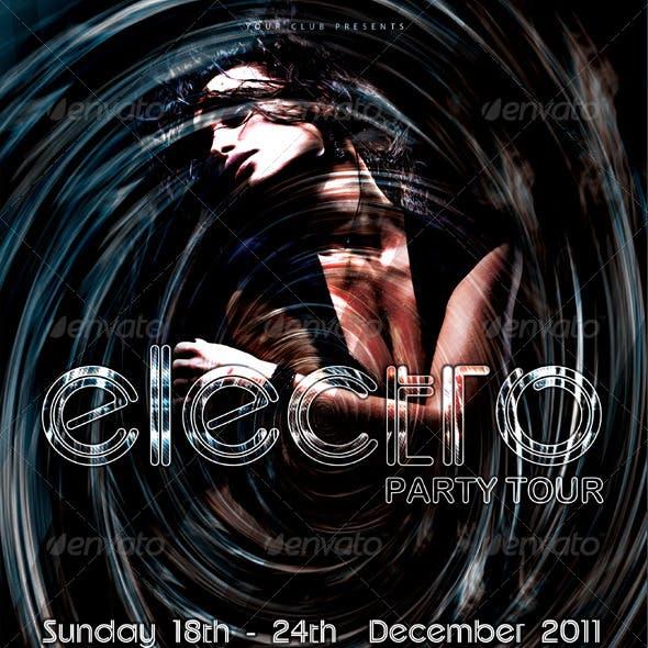 Electro Party Tour Flyer