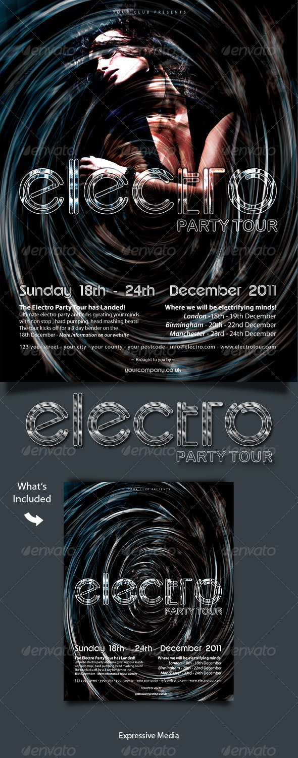 Electro Party Tour Flyer - Clubs & Parties Events