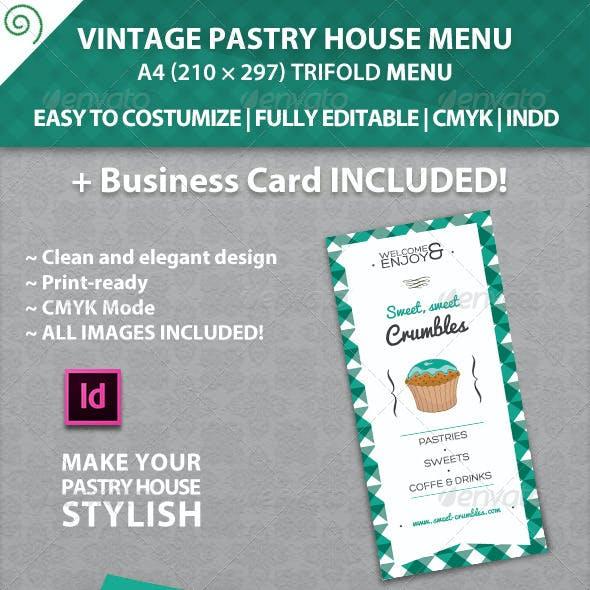 Vintage Pastry House Menu Template