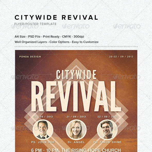 Citywide Revival Flyer/Poster Template