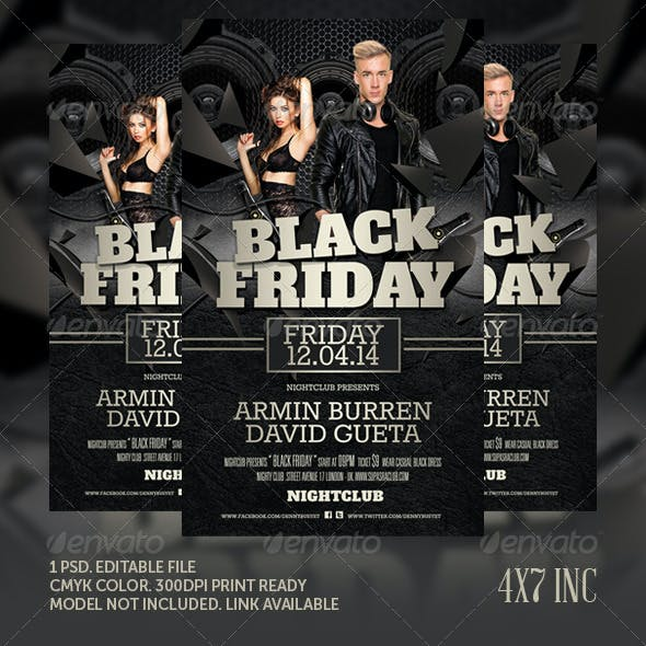 Black Friday Club Flyer Template