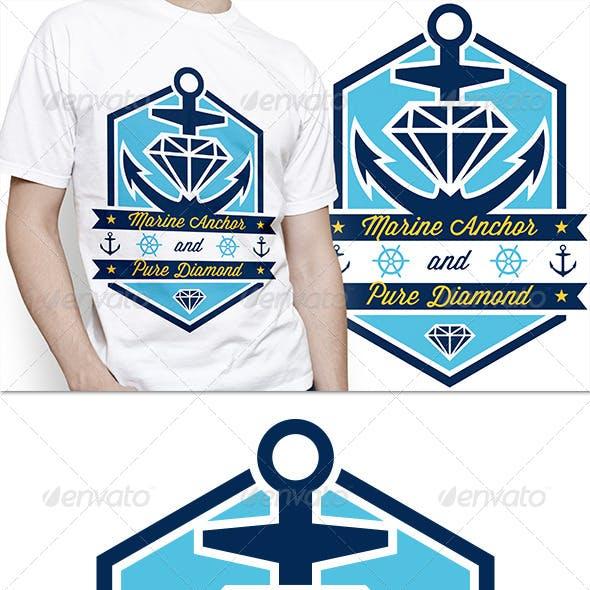 Marine Anchor T-Shirt