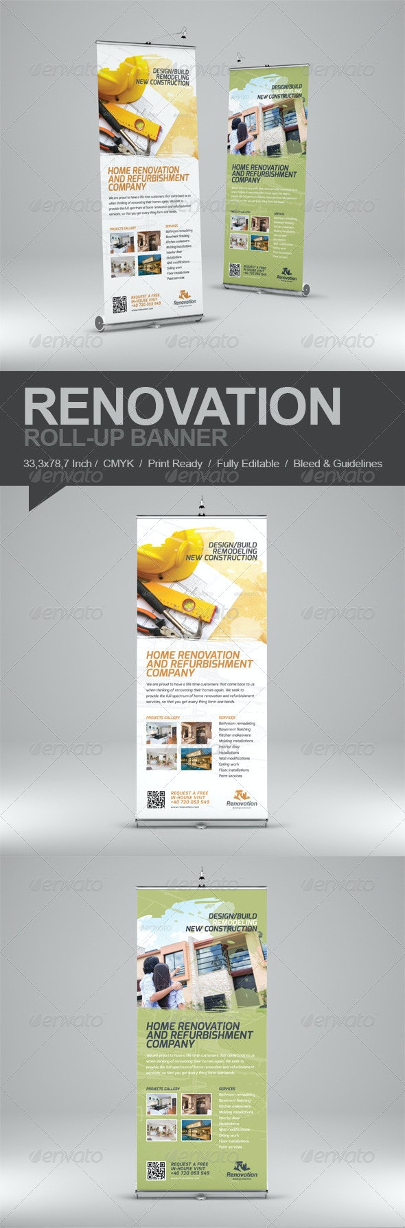 Renovation Roll-Up Banner - Signage Print Templates