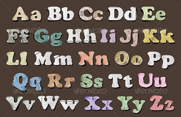 Retro Vintage Alphabet - Objects Vectors