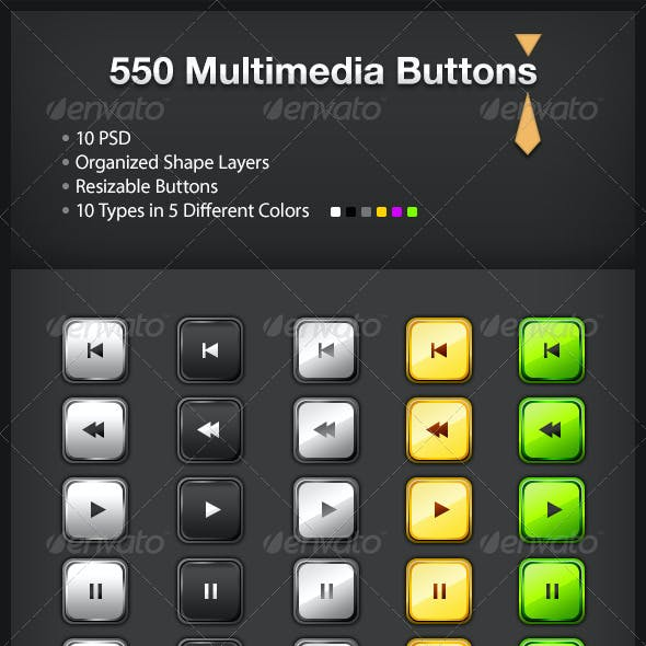 550 Multimedia Buttons