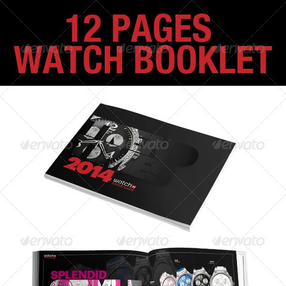 12 Page InDesign Watch Booklet