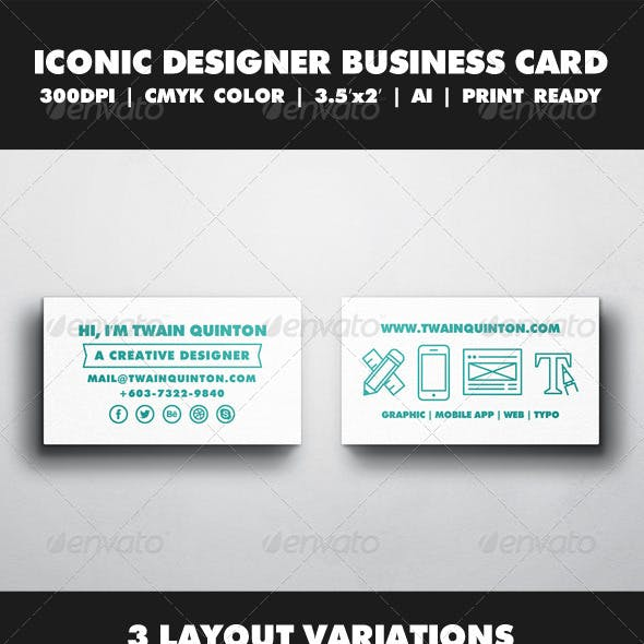 Creative Iconic Business Card