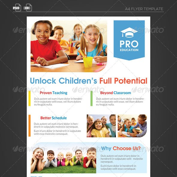 Pro Education Flyer Template - Unlock Potential