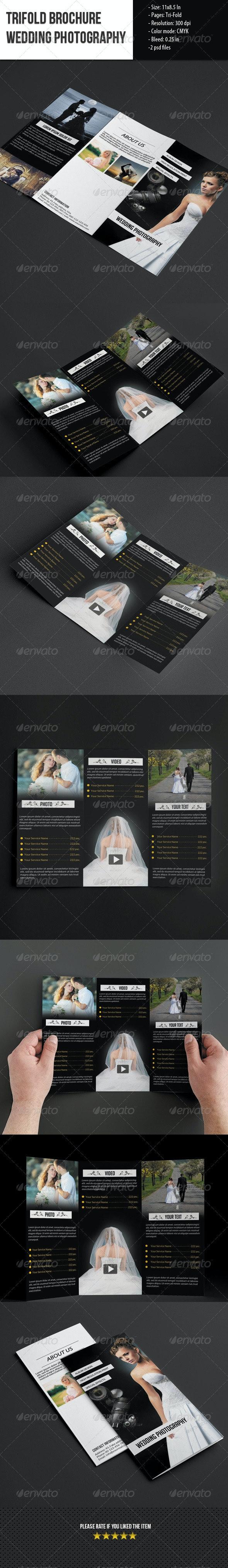 Trifold Brochure for Wedding Photography - Portfolio Brochures