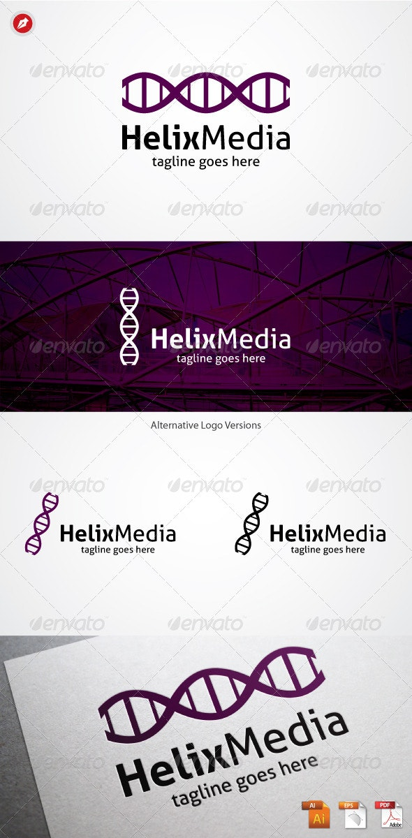 Helix Media Logo - Symbols Logo Templates