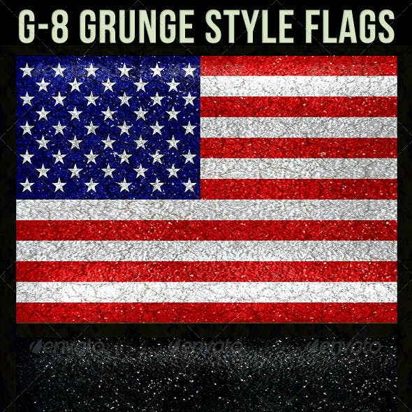 G-8 Grunge Style Flags