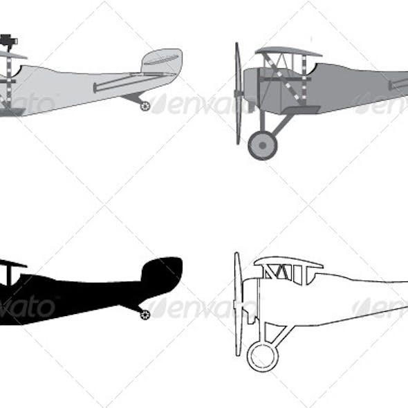 Model Airplane Retro Biplane.