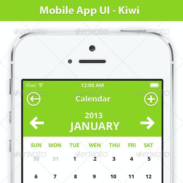 Mobile App UI - Kiwi