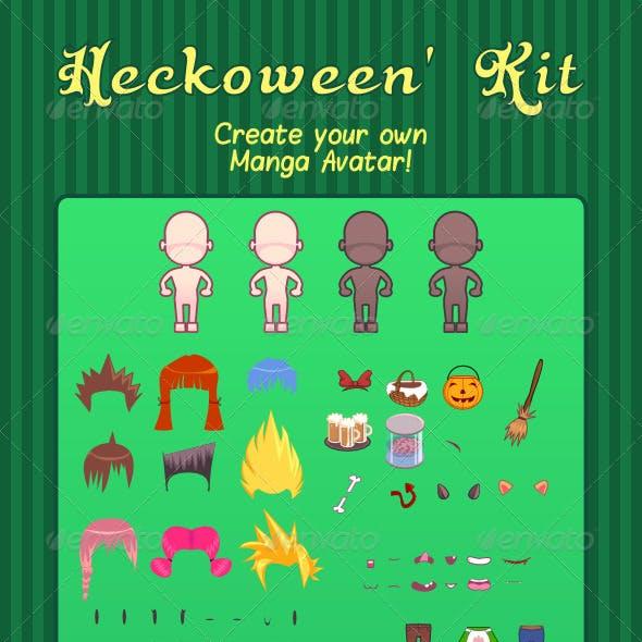 Heckoween Halloween Manga Avatar Creation Kit