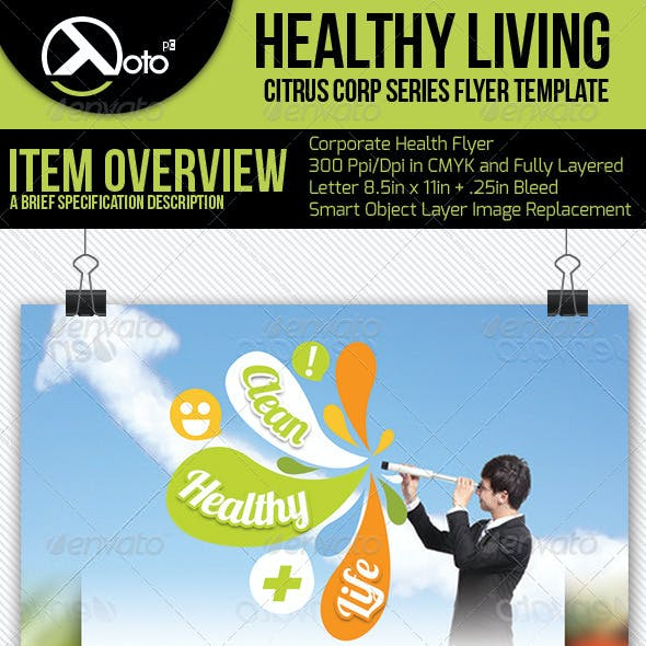 Healthy Living Flyers