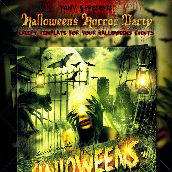 Halloweens Horror Party Flyer Template