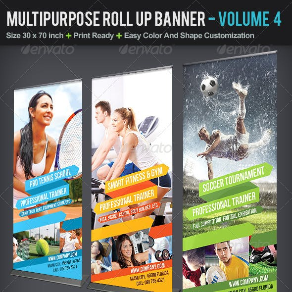Multipurpose Roll Up Banner | Volume 4