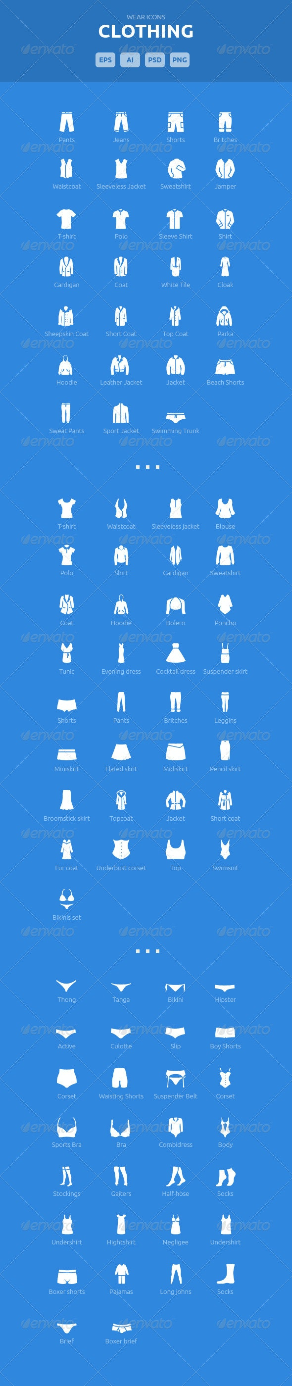 Wear Icons - Clothing Vector Pack - Icons