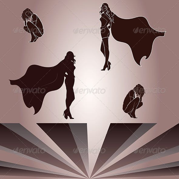 Elements for Woman and Superheroine Shadow