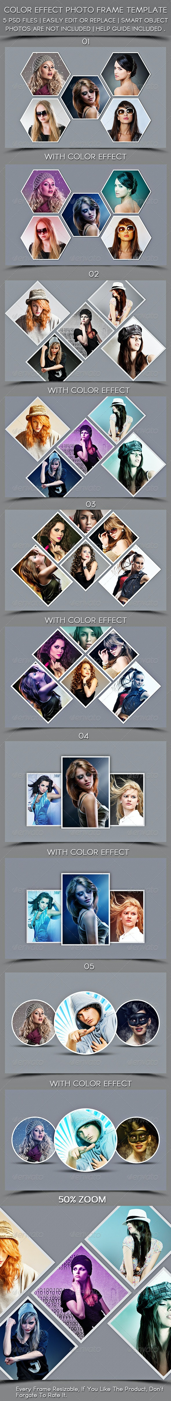 Color Effect Photo Frame Template - Photo Templates Graphics