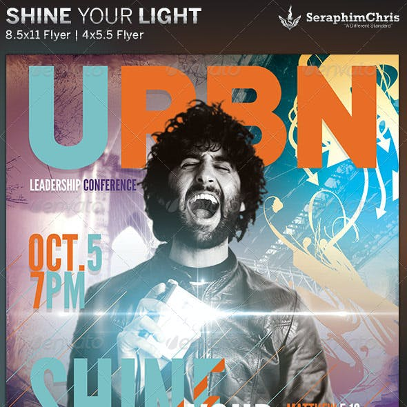 Shine Your Light: Church Flyer Template