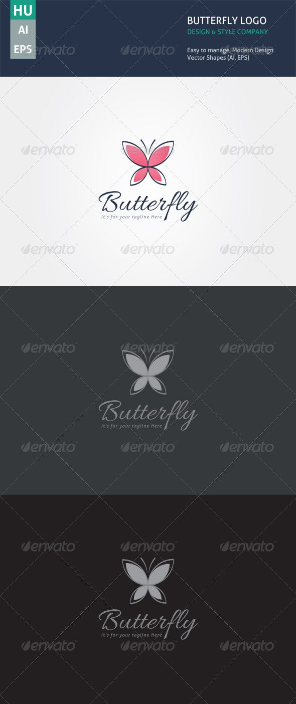 Butterfly Style - Abstract Logo Templates