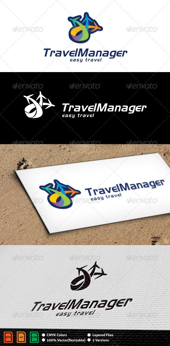 Travel Manager Logo Template - Objects Logo Templates