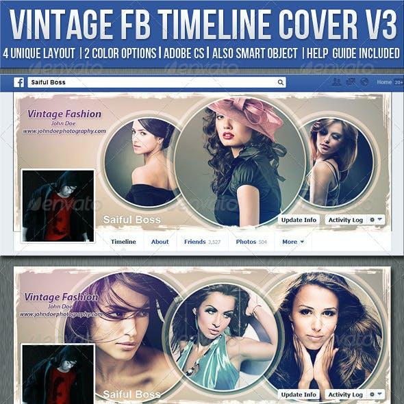 Vintage Photography Facebook Timeline Cover V3