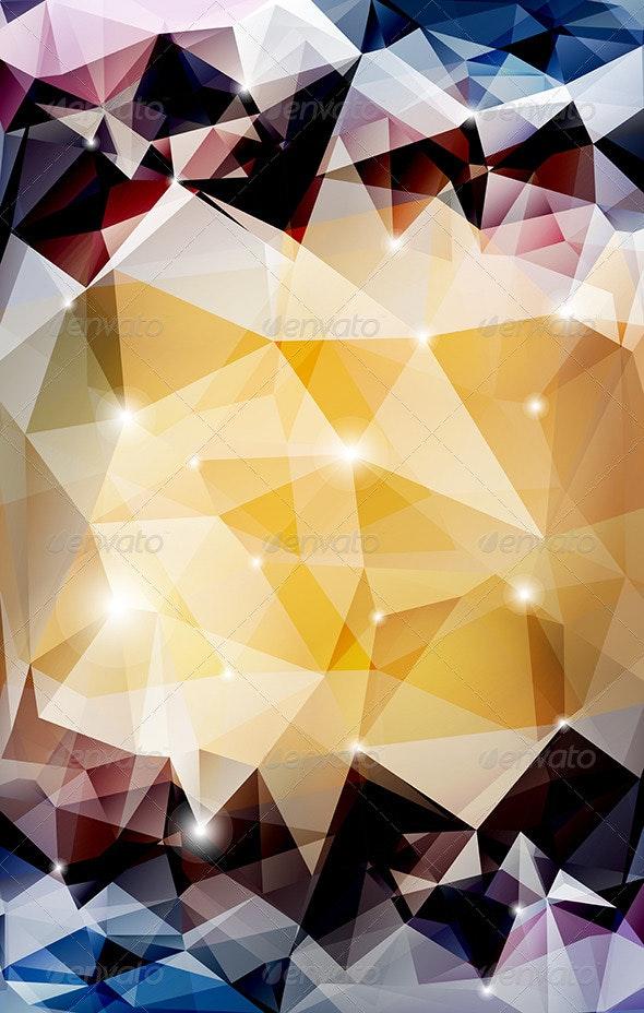 Vector Abstract Polygonal Background  - Abstract Conceptual