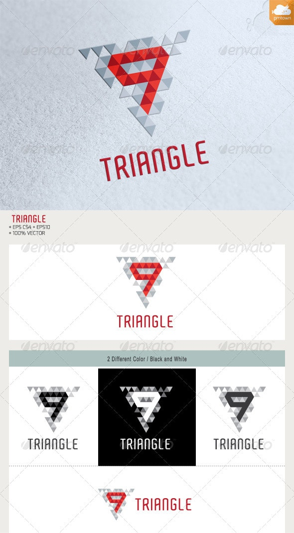 9 Triangle - Numbers Logo Templates