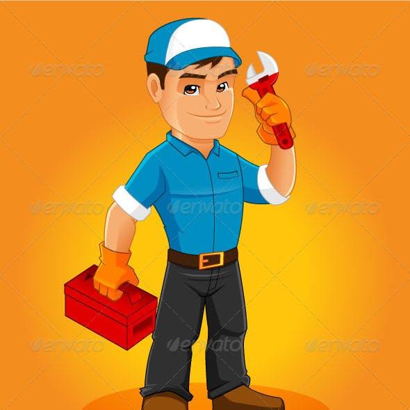 Handyman Mascot